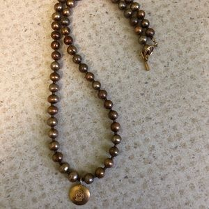 Gold tone Ball Bearing Necklace